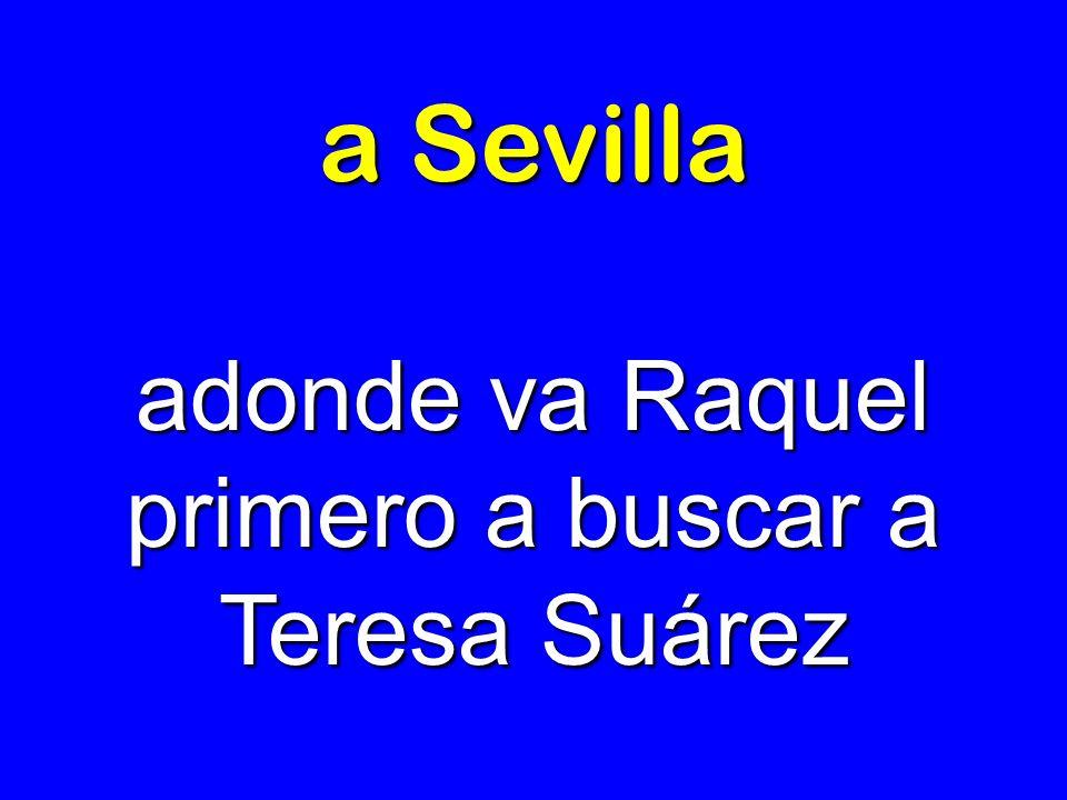 adonde va Raquel primero a buscar a Teresa Suárez