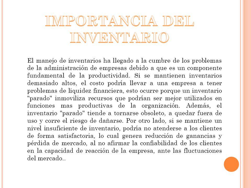 IMPORTANCIA DEL INVENTARIO