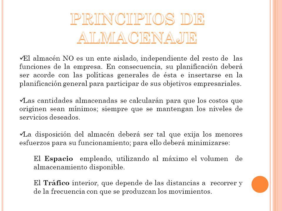 PRINCIPIOS DE ALMACENAJE