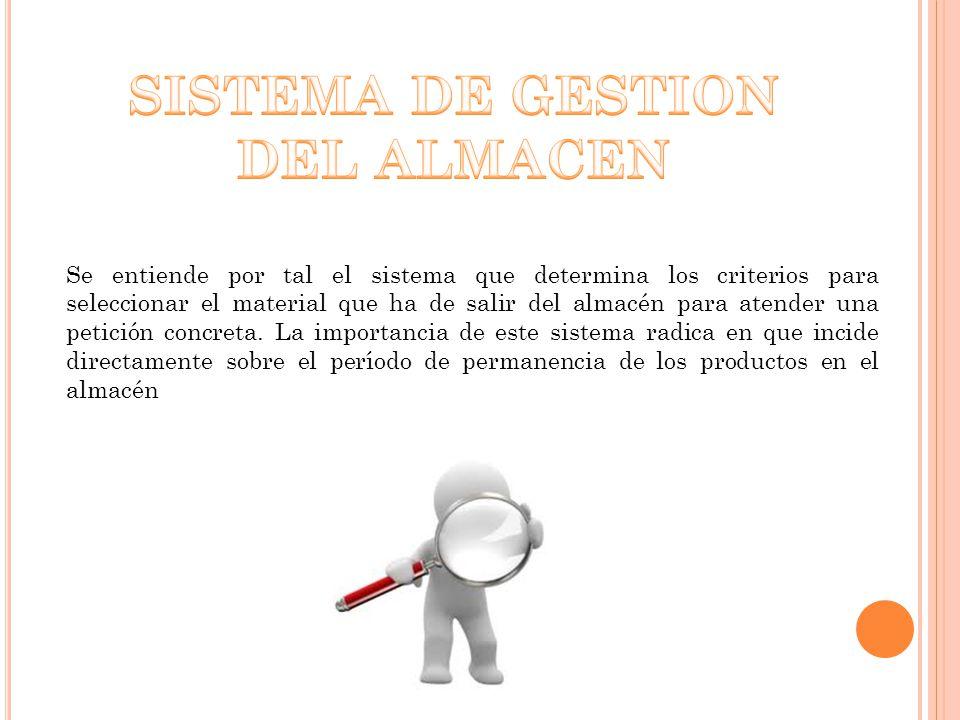 SISTEMA DE GESTION DEL ALMACEN