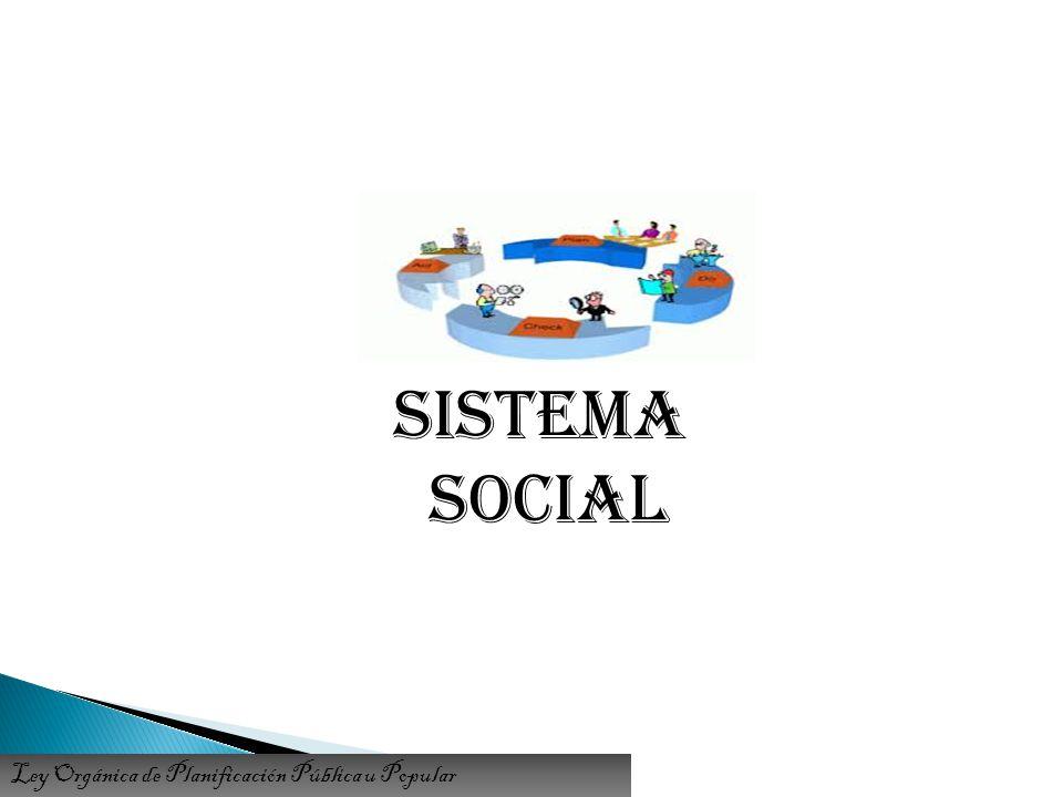 SISTEMA social Ley Orgánica de Planificación Pública u Popular
