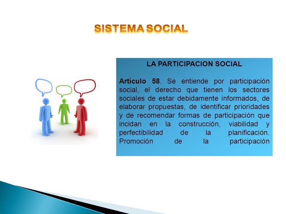 LA PARTICIPACION SOCIAL