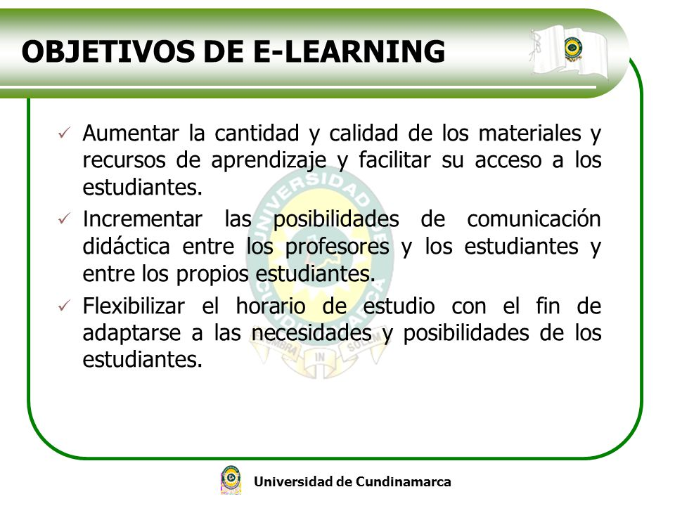OBJETIVOS DE E-LEARNING