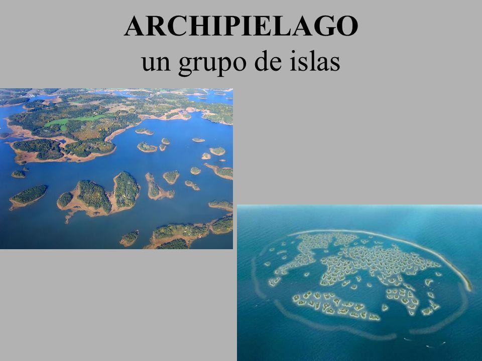 ARCHIPIELAGO un grupo de islas