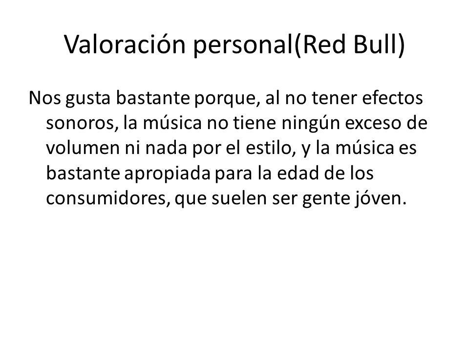 Valoración personal(Red Bull)