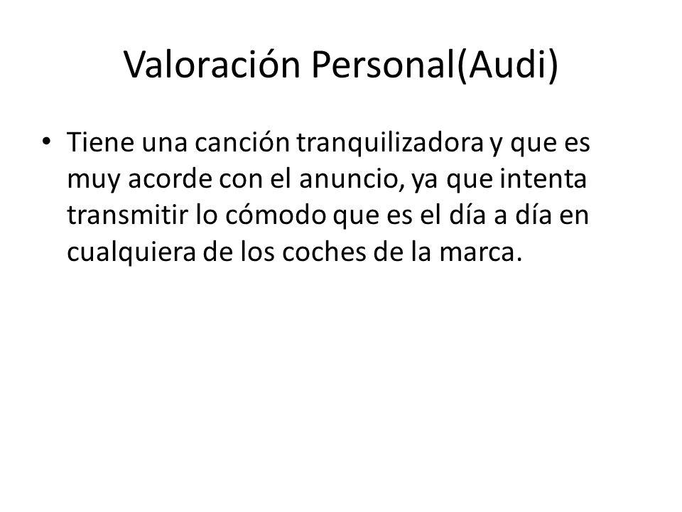 Valoración Personal(Audi)