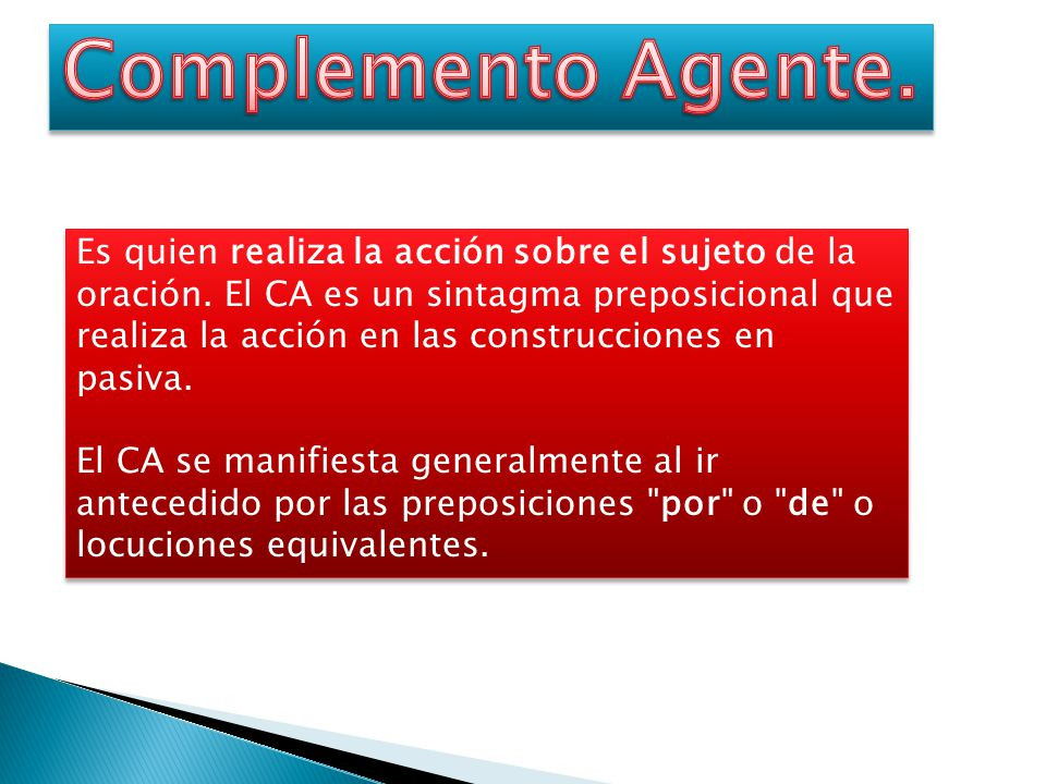 Complemento Agente.