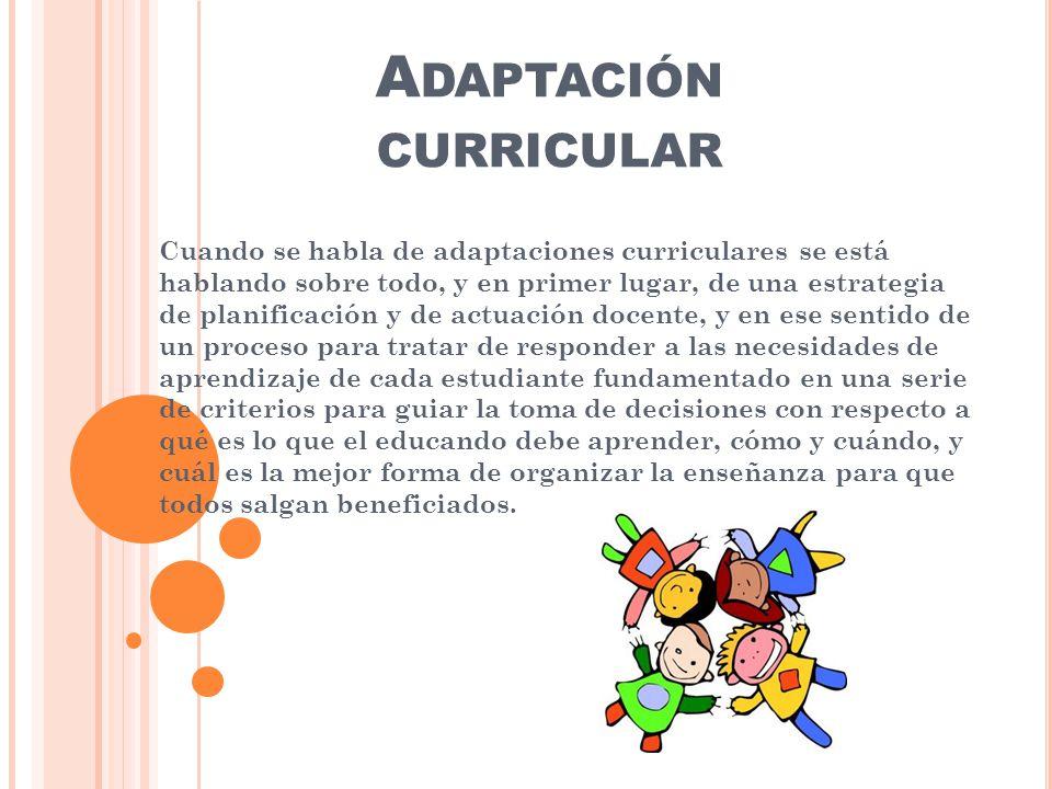 Adaptación curricular