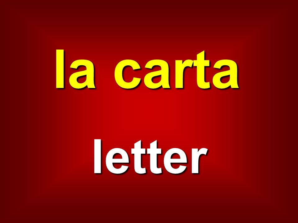 la carta letter