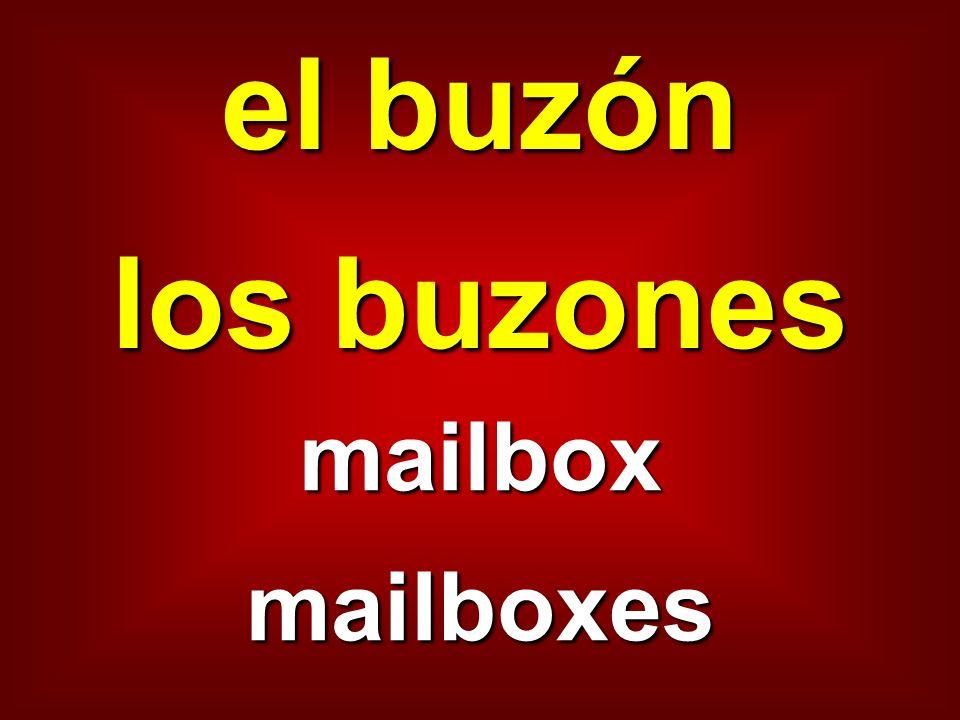 el buzón los buzones mailbox mailboxes