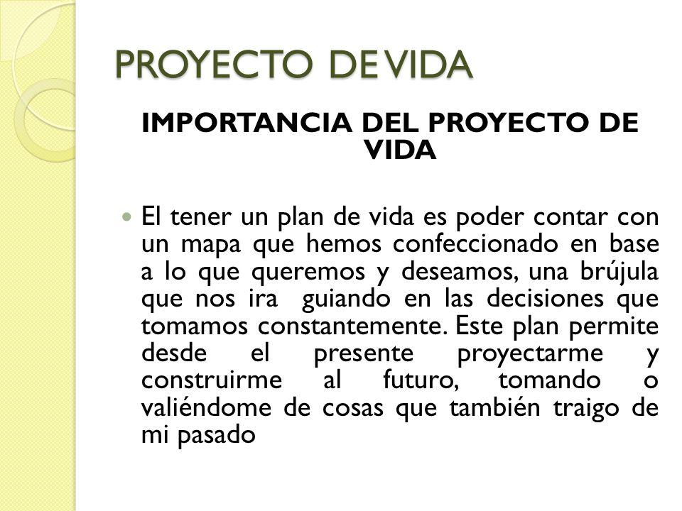 IMPORTANCIA DEL PROYECTO DE VIDA