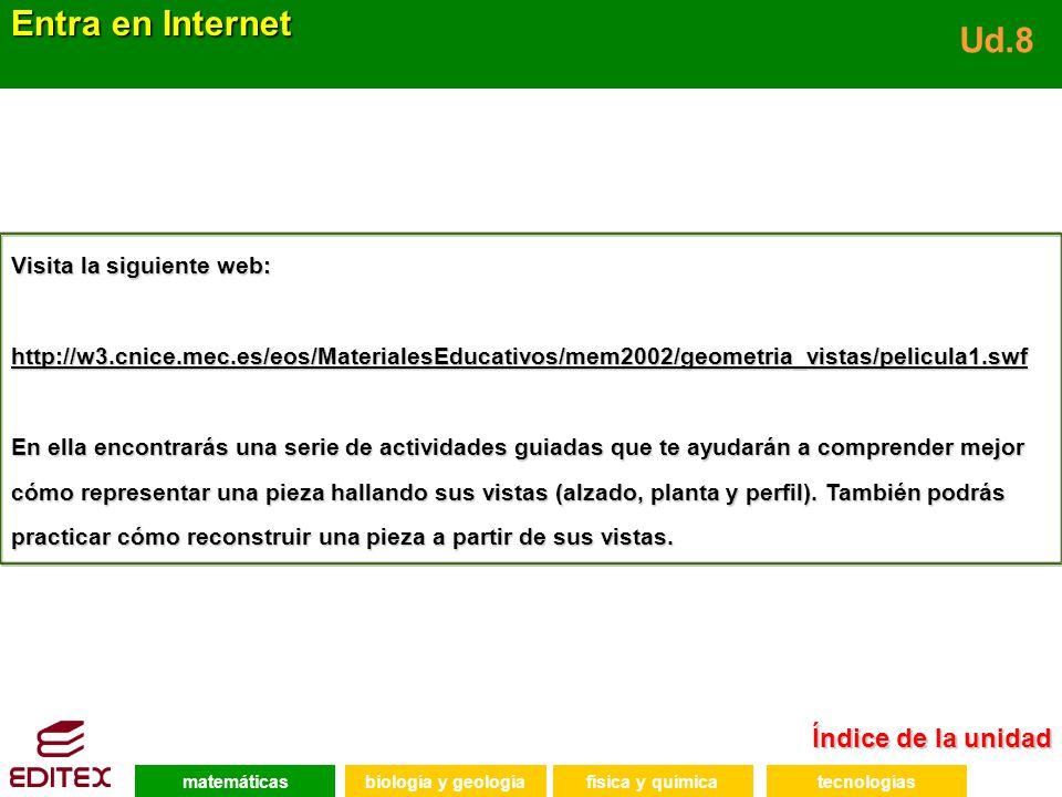 Entra en Internet Ud.8 Índice de la unidad Visita la siguiente web: