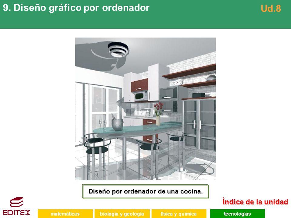 Diseño por ordenador de una cocina.