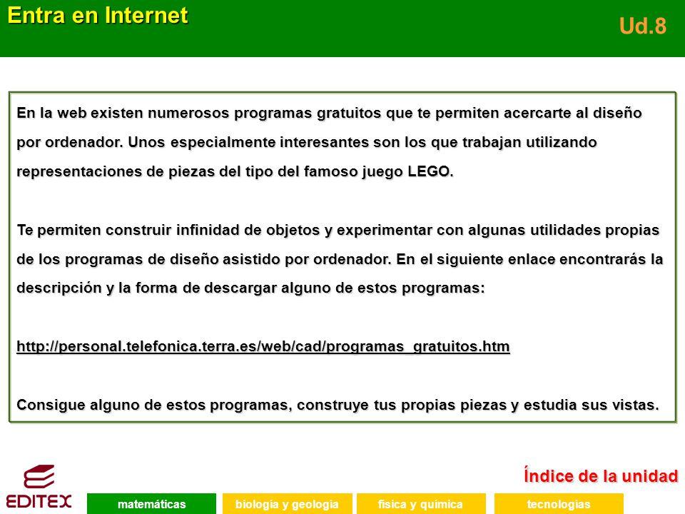 Entra en Internet Ud.8 Índice de la unidad