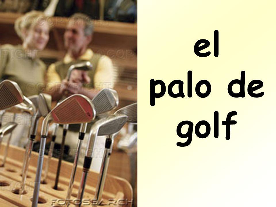 el palo de golf
