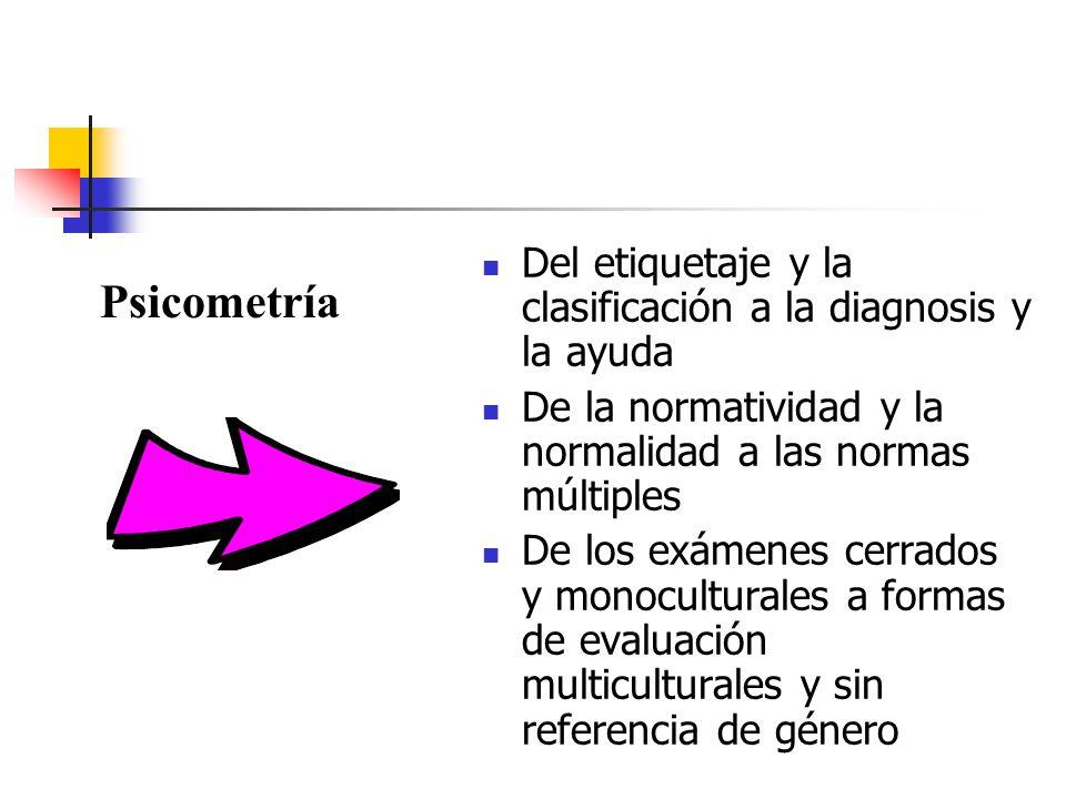 Del etiquetaje y la clasificación a la diagnosis y la ayuda