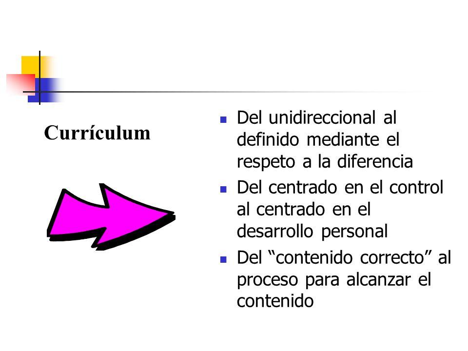 Del unidireccional al definido mediante el respeto a la diferencia