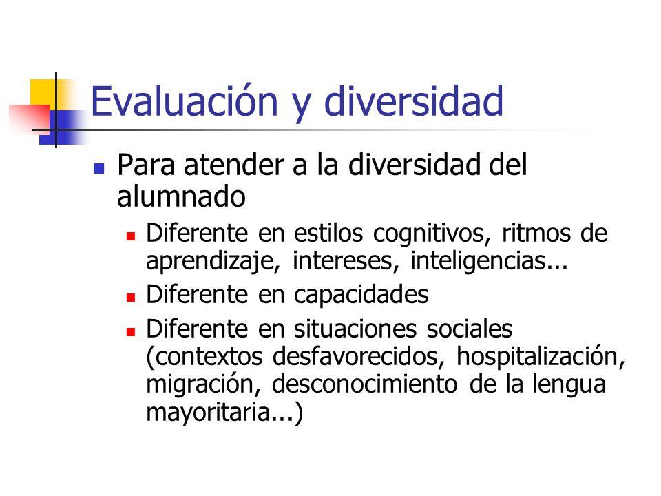 Evaluación y diversidad