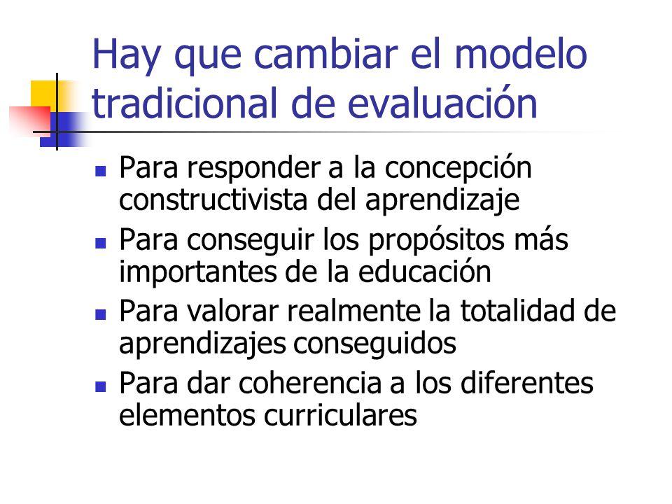 Hay que cambiar el modelo tradicional de evaluación