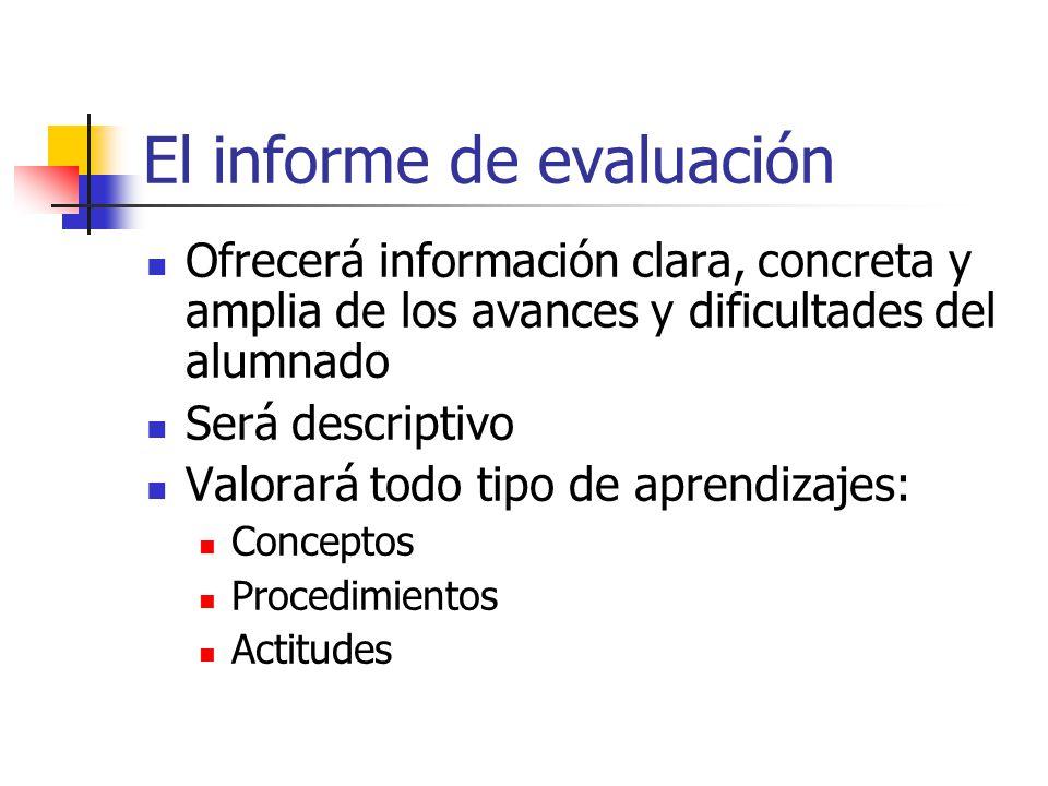 El informe de evaluación