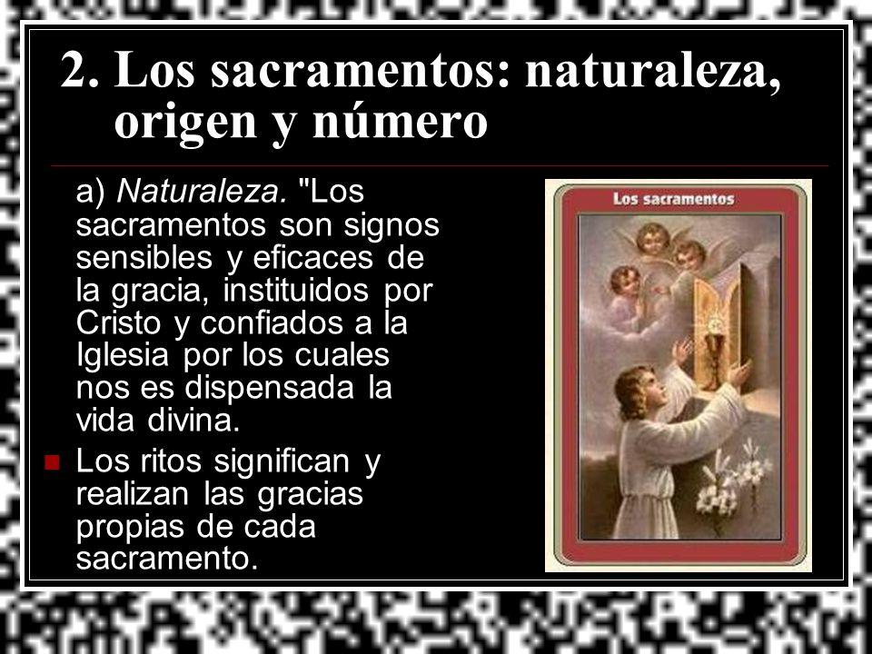 2. Los sacramentos: naturaleza, origen y número