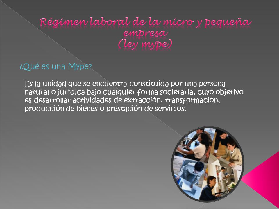 Régimen laboral de la micro y pequeña empresa (ley mype)