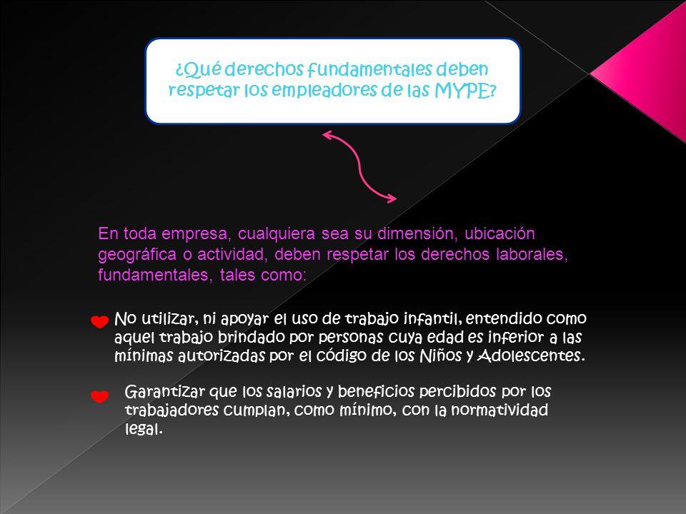 ¿Qué derechos fundamentales deben respetar los empleadores de las MYPE