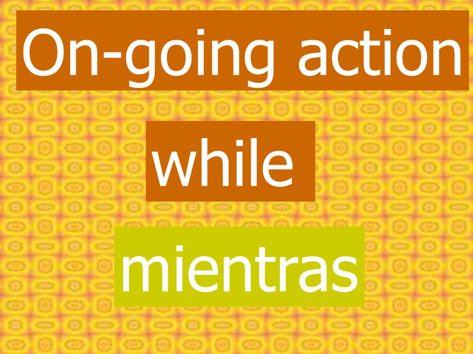 On-going action while mientras