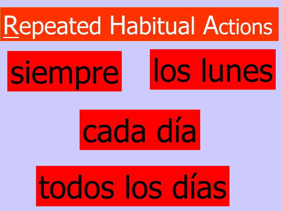 Repeated Habitual Actions