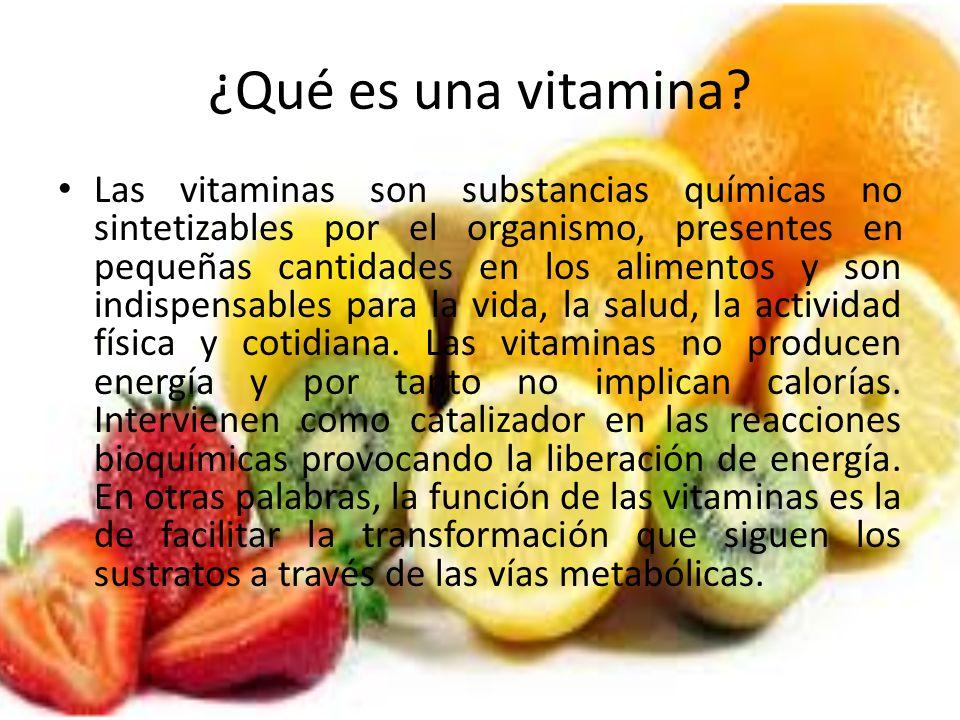 ¿Qué es una vitamina
