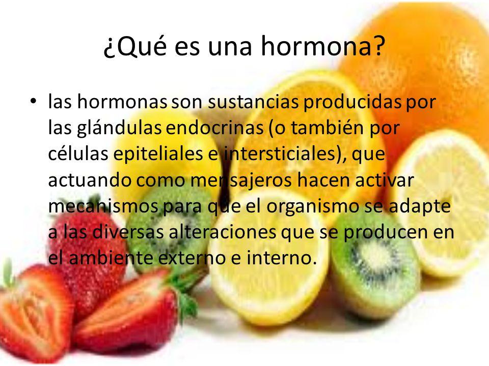 ¿Qué es una hormona