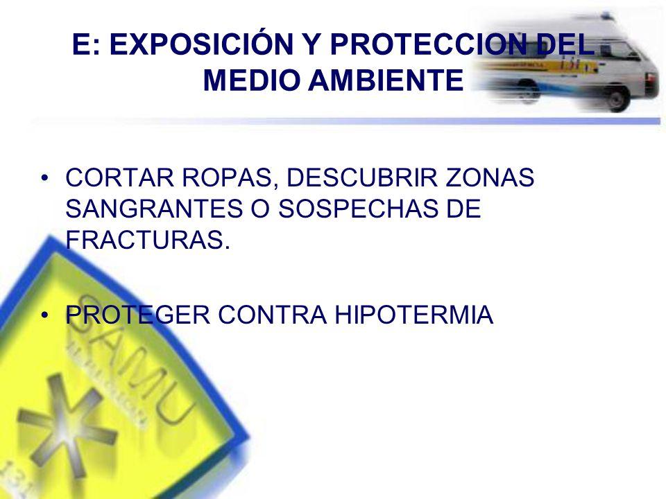 E: EXPOSICIÓN Y PROTECCION DEL MEDIO AMBIENTE