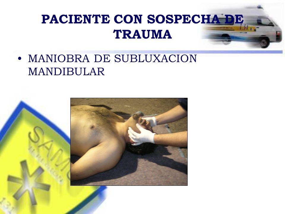 PACIENTE CON SOSPECHA DE TRAUMA