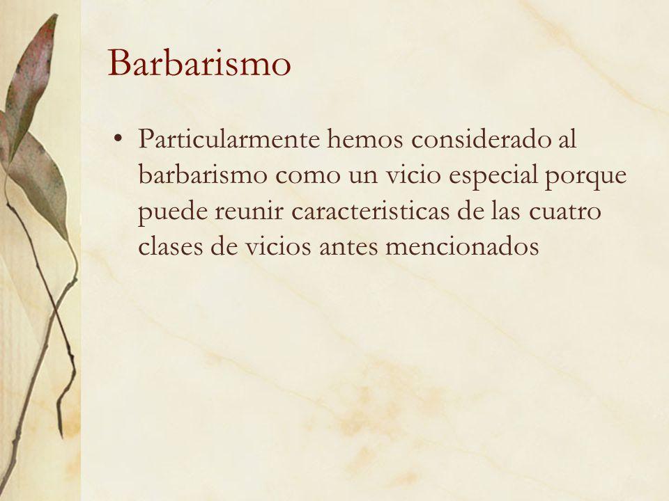 Barbarismo