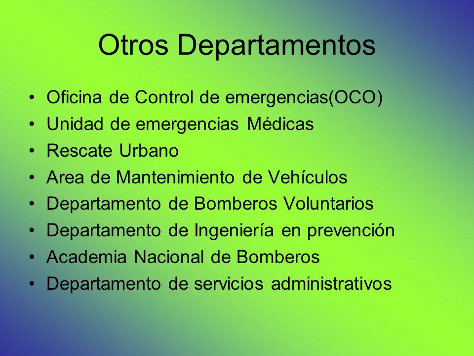 Otros Departamentos Oficina de Control de emergencias(OCO)