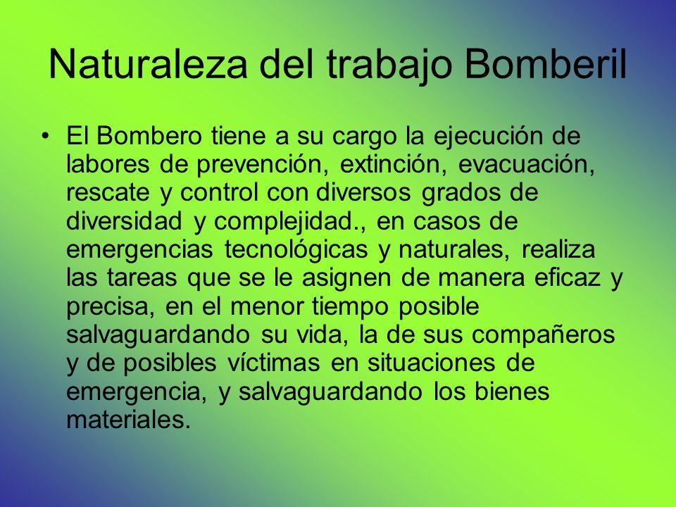 Naturaleza del trabajo Bomberil