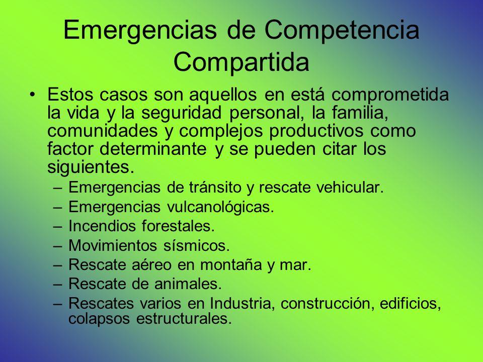 Emergencias de Competencia Compartida