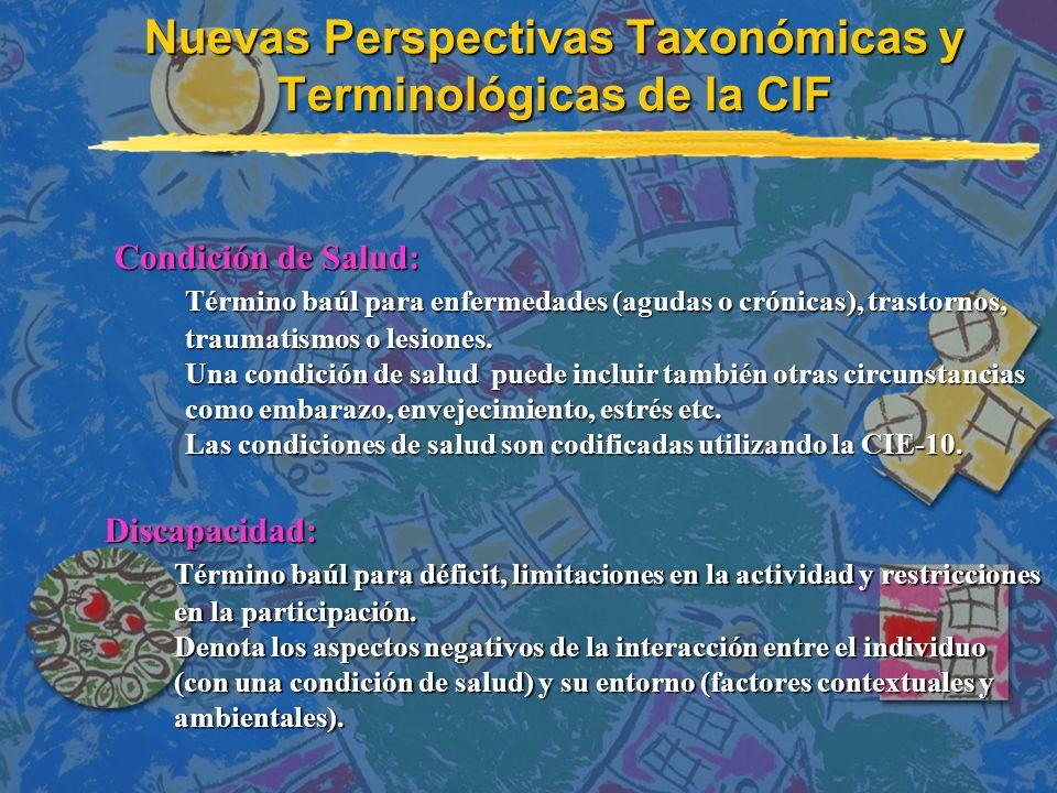 Nuevas Perspectivas Taxonómicas y Terminológicas de la CIF