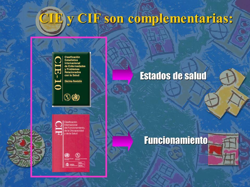 CIE y CIF son complementarias: