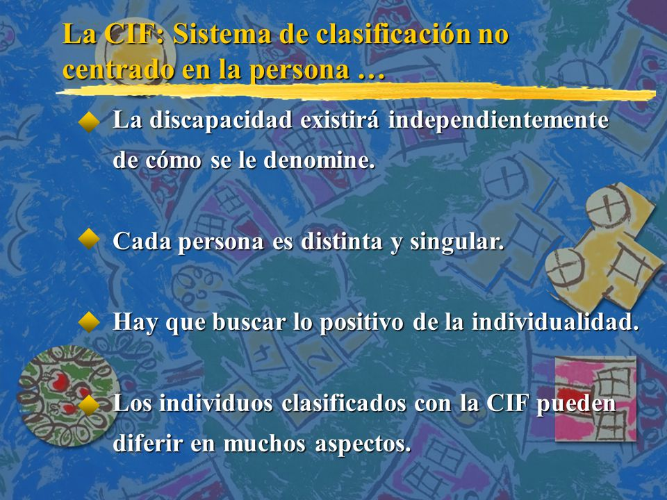 La CIF: Sistema de clasificación no centrado en la persona …