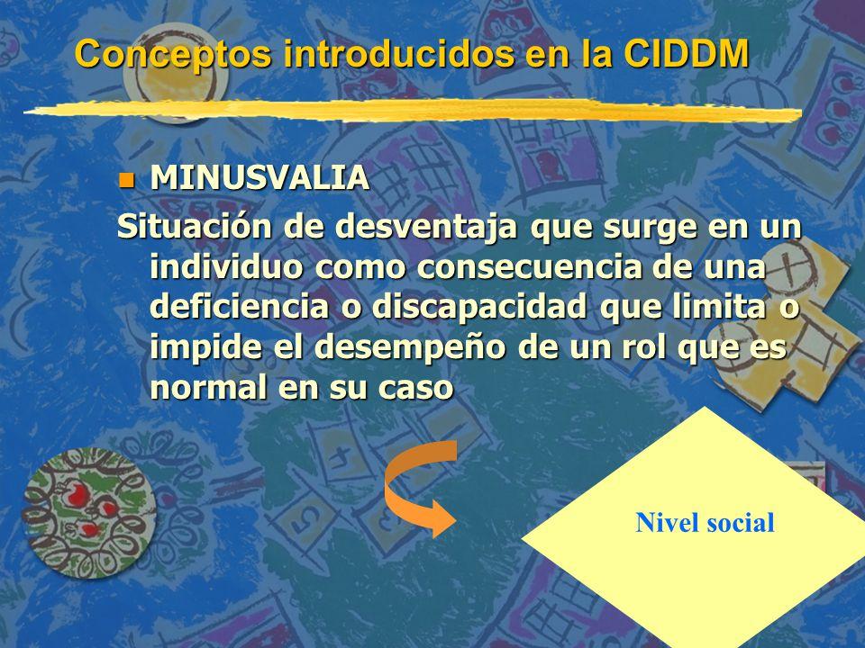Conceptos introducidos en la CIDDM