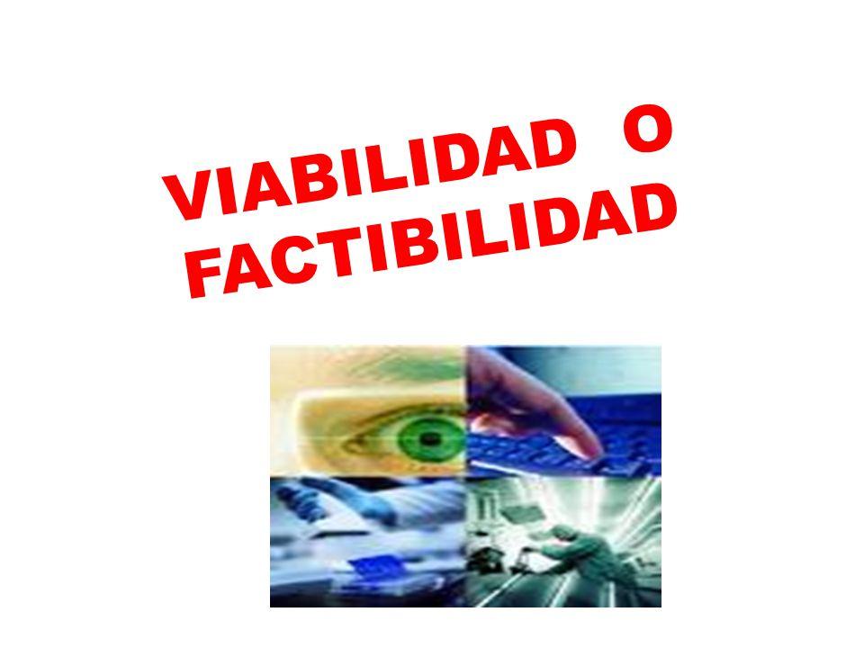 VIABILIDAD O FACTIBILIDAD