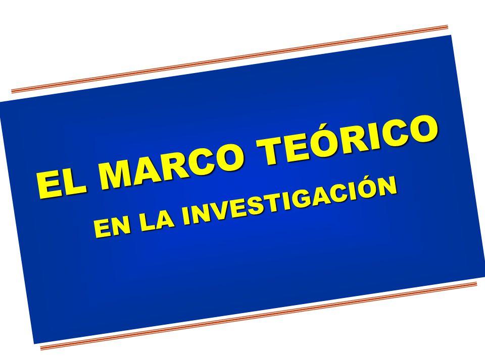 EL MARCO TEÓRICO EN LA INVESTIGACIÓN