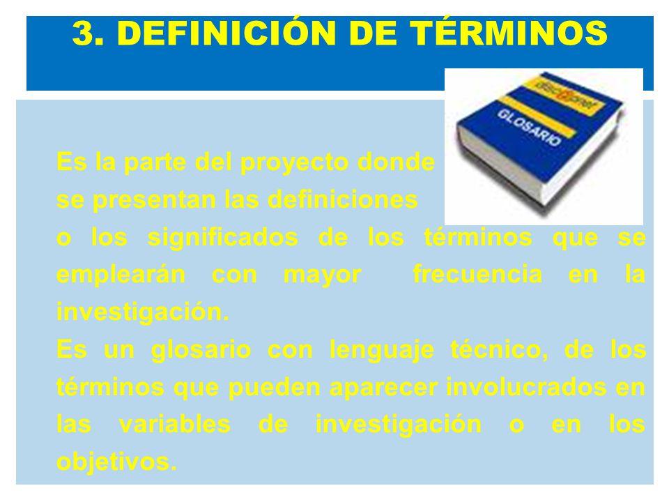 3. DEFINICIÓN DE TÉRMINOS