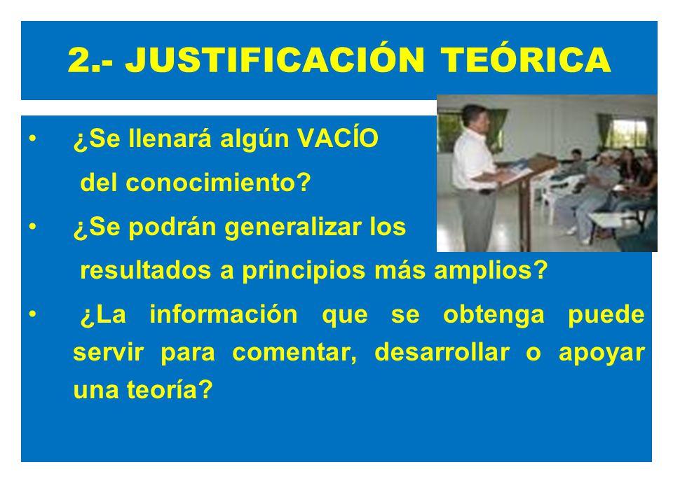 2.- JUSTIFICACIÓN TEÓRICA