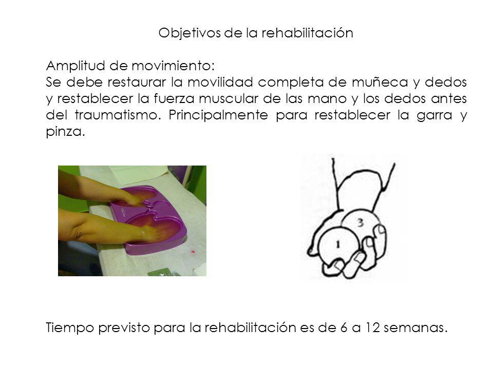 Objetivos de la rehabilitación