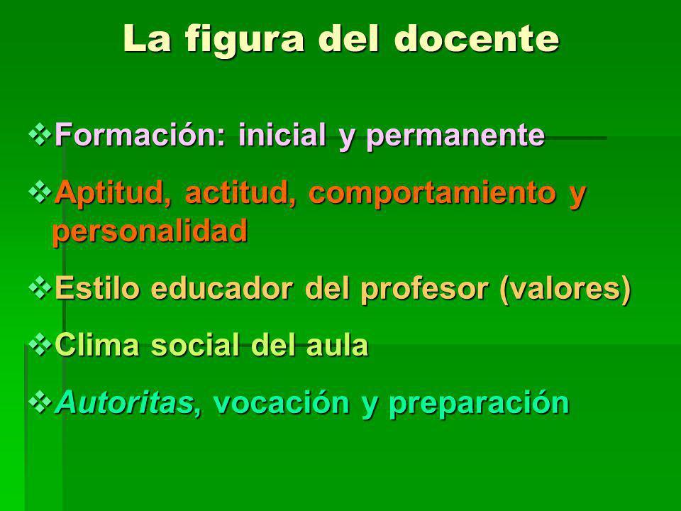 La figura del docente Formación: inicial y permanente