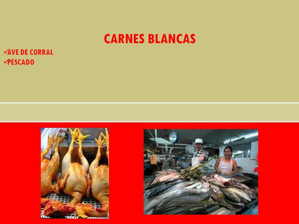 CARNES BLANCAS AVE DE CORRAL PESCADO