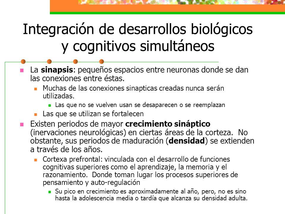 Integración de desarrollos biológicos y cognitivos simultáneos