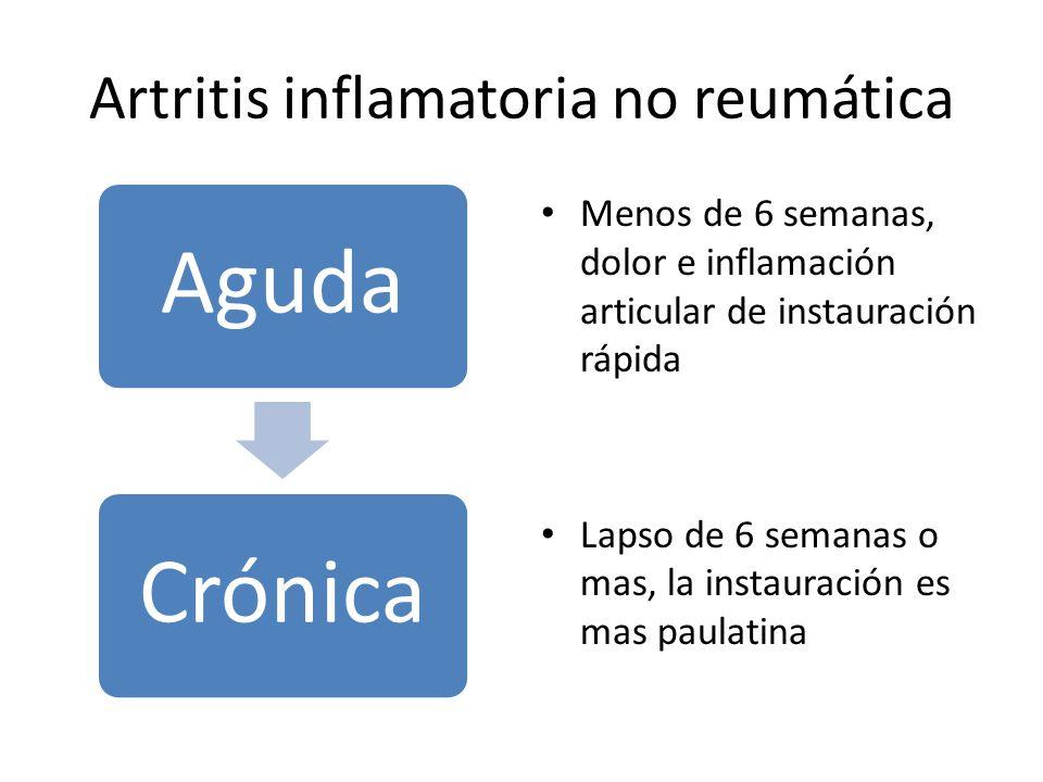 Artritis inflamatoria no reumática